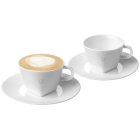 PURE CAPPUCCINO CUPS & 2 SAUCERS